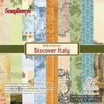 Набор бумаги для скрапбукинга от ScrapBerry's - Итальянские каникулы, 15 х 15 см, 24 листа - ScrapUA.com