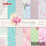 Набор бумаги для скрапбукинга от ScrapBerry's - Летняя Радость,15 х 15 см, 24 листа, SCB220605112G - ScrapUA.com