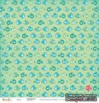 Бумага для скрапбукинга от ScrapBerry's -Басик - Под водой, 30,5х30,5 см, 190 гр/м, двусторонняя, 1 лист - ScrapUA.com