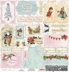 Карточки для вырезания от Scrapberry's - Зимнее утро Карточки, 30,5х30,5 см, 180 гр/м, односторонний, 1 лист - ScrapUA.com