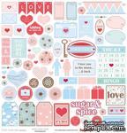 Бумага для скрапбукинга от ScrapBerry's -Про любовь - Нежность, 30,5х30,5см,  190 гр/м, односторонняя - ScrapUA.com