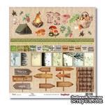 Бумага для скрапбукинга от ScrapBerry's - В лесу В поход за грибами 2, 30,5х30,5 см, 190 гр/м, односторонняя - ScrapUA.com