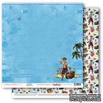Бумага для скрапбукинга от ScrapBerry's - Сокровища пиратов - Земля! 30,5х30,5 см., 190 гр / м, двусторонняя - ScrapUA.com