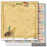Бумага для скрапбукинга от ScrapBerry's - Сокровища пиратов - Настоящее приключение, 30,5х30,5 см 190 гр/м, двусторонняя - ScrapUA.com