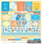 Бумага для скрапбукинга от ScrapBerry's - Сказки моря - Теги, односторонняя, 30,5x30,5 см - ScrapUA.com