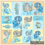 Бумага для скрапбукинга от ScrapBerry's - Сказки моря - Карточки, односторонняя, 30,5x30,5 см - ScrapUA.com