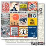 Бумага для скрапбукинга от ScrapBerry's - Мужской отдых - Карточки 1, 30,5х30,5 см, 190 гр/м, двусторонняя, 1 лист - ScrapUA.com