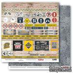 Бумага для скрапбукинга от ScrapBerry's - Мужской отдых - Карточки 2, 30,5х30,5 см, 190 гр/м, двусторонняя, 1 лист - ScrapUA.com