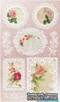 Набор натирок 12*20см Цветы и кружево от ScrapBerry's - ScrapUA.com