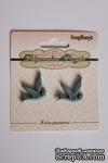 """Кабошоны от ScrapBerry`s """"Ласточки"""", цвет светло-голубой, 2 шт. - ScrapUA.com"""