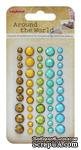 Клеевые граненые камушки, 50 шт , 5 цветов, Вокруг Света 2 - ScrapUA.com