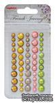 Клеевые граненые камушки, 50 шт, 5 цветов, Французское Путешествие 2 - ScrapUA.com