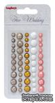 Клеевые граненые камушки, 50 шт, 5 цветов, Свадьба 2 - ScrapUA.com