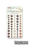 Граненые клеевые камушки от Scrapberry's - Цветные сны 1, 50 шт, 5 цветов - ScrapUA.com