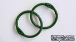 Кольца для альбомов, 2 шт., цвет: зеленый 35 мм SCB 2504735 - ScrapUA.com