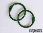 Кольца для альбомов, 2 шт., цвет: зеленый 40 мм SCB 2504740 - ScrapUA.com