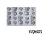 Клеевые сердечки от ScrapBerry's, 20 шт., 8 и 10 мм, прозрачные - ScrapUA.com