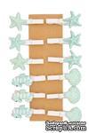 Декоративные мини-прищепки от Scrapberry's - Морские ракушки, 12 шт, длина 30 мм - ScrapUA.com
