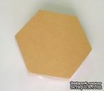 Набор заготовок из папье-маше от Scrapberry's, Подставка под чашку - шестиугольник, 11х9,5 cм, 10 шт. - ScrapUA.com