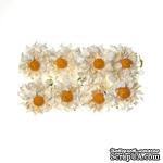 Ромашки из бумаги, белые, 35мм, 8 шт. - ScrapUA.com