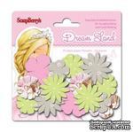 Набор принтованных бумажных цветочков от Scrapberry's - Волшебная страна - Розовые цветы, 24 шт - ScrapUA.com