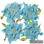 Гардении, набор 4шт., диаметр 7см, нежно-голубые - ScrapUA.com