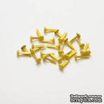 Набор брадс, 20 шт., желтые - ScrapUA.com