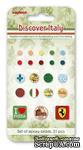 Набор брадсов от Scrapberry's - Итальянские каникулы, 21 шт - ScrapUA.com