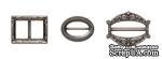 Набор застежек от ScrapBerry's, античное серебро, 3 шт. - ScrapUA.com