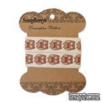 Лента декоративная от ScrapBerry's - Милые совы, Крафт 15мм, 2м, хлопок - ScrapUA.com