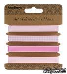 Набор декоративных лент от Scrapberry's, нежно-розовые, 4 шт. по 1 м - ScrapUA.com