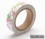 Тканевый скотч с цветочным принтом №34 15мм*4м SCB490039 - ScrapUA.com