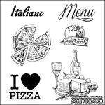 Набор штампов от Scrapberry's - Итальянские каникулы. Итальянский ресторанчик, 10,5 x 10,5см - ScrapUA.com