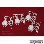 Чипборд Scrapiniec - Часы большие Park Avenue 04, 4 штуки - ScrapUA.com