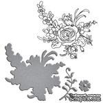 Нож для вырубки + штампы от Spellbinders - Flower Bouquet - ScrapUA.com