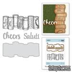 Нож для вырубки + штампы от Spellbinders - Wine Corks - ScrapUA.com