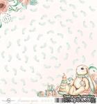 Лист скрапбумаги от ScrapEgo - Ножки, Лапочка-дочка, 30,5х30,5см - ScrapUA.com