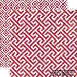 Лист скрапбумаги от Echo Park - Lipstick Geometric, 30х30 см - ScrapUA.com