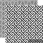 Лист скрапбумаги от Echo Park - Onyx Geometric, 30х30 см - ScrapUA.com
