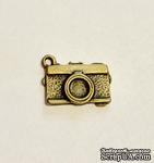 """Металлическое украшение """"Фотоаппарат"""", античная бронза, 18x11мм, 1 шт. - ScrapUA.com"""