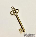 Металлический ключик, цвет античная бронза, 45 мм, 1 шт. - ScrapUA.com