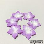 Сиреневые цветочки с острыми лепестками, 20 шт - ScrapUA.com