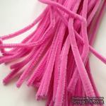 Синельная проволока, цвет розовый, 30 см, 1 штука - ScrapUA.com
