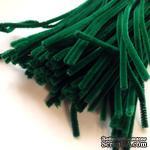 Синельная проволока, цвет темно-зеленый, 30 см, 1 штука - ScrapUA.com