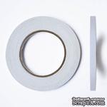 Профессиональный двухсторонний тонкий скотч, 9 мм х 50 м - ScrapUA.com