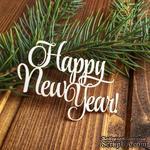 """Чипборд от Вензелик - Надпись """"Happy New Year"""" - ScrapUA.com"""