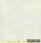 Лист односторонней бумаги от Scrapmir - Синий горошек - Корица, 30x30см - ScrapUA.com