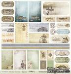 Лист односторонней бумаги c карточкаи от Scrapmir из коллекции  Мистер Винтаж, 30x30 см - ScrapUA.com