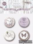 Набор скрап-фишек для скрапбукинга от Scrapmir - French Provence, 4шт - ScrapUA.com