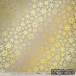 Лист односторонней бумаги с золотым тиснением от Scrapmir - Rustic Winter - Золотая Метелица, 30x30 см - ScrapUA.com
